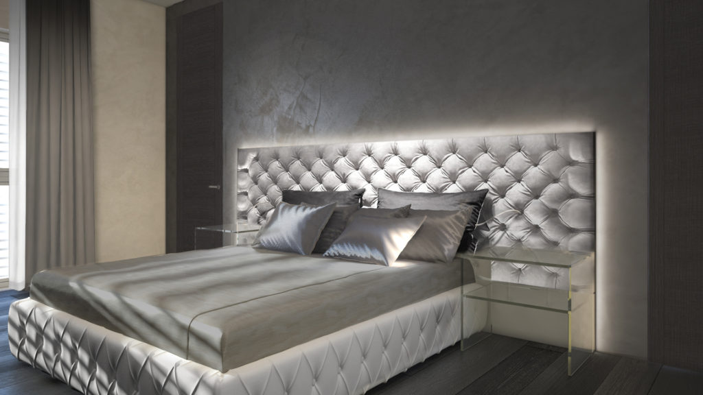 arredamento camera da letto testa morbida